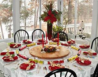 como decorar mesa para ceia de Natal