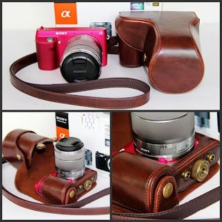 Leather Case Bag For SONY NEX-F3 NEXF3 F3K F3K/B F3K/S Camera 18-55mm Lens