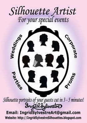 Silhouette portraits of your guests cut in 3 - 5 minutes!