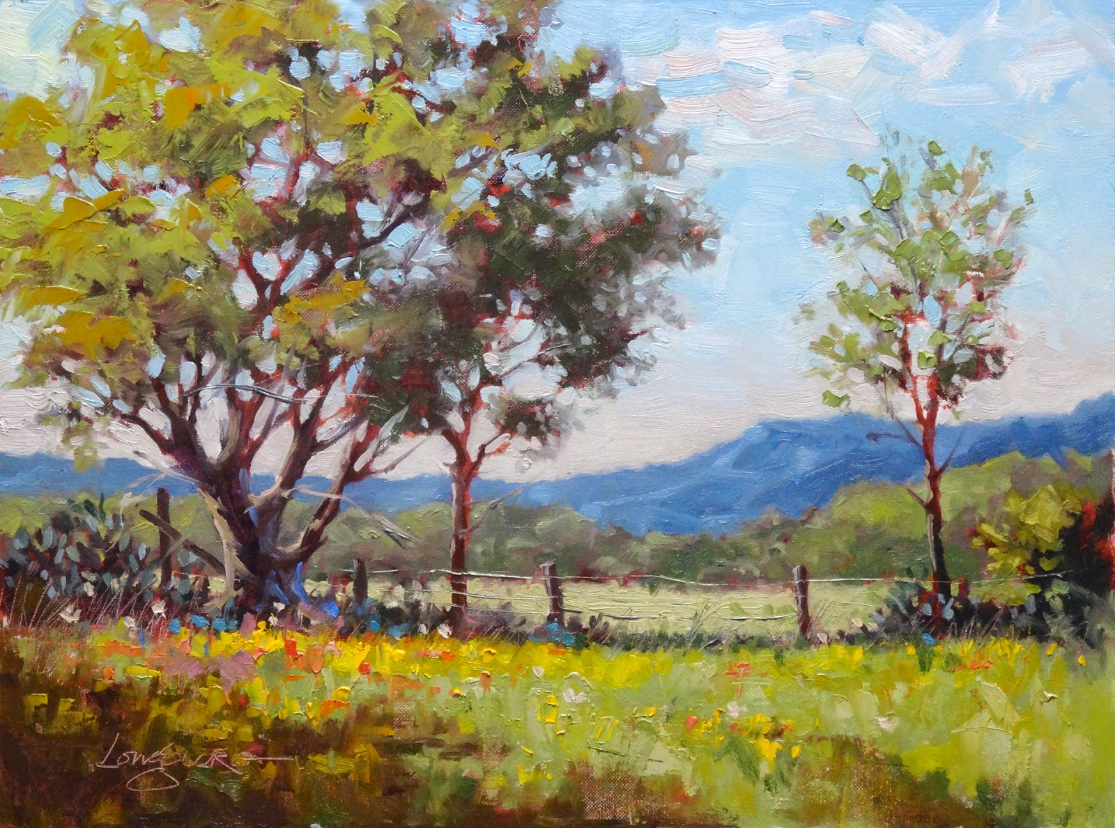 Oil Fence Post Painting