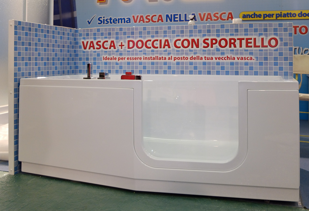 Fiera di scandicci fi m 2 trasformazione vasca in doccia e sistema vasca nella vasca - Busco vasche da bagno ...
