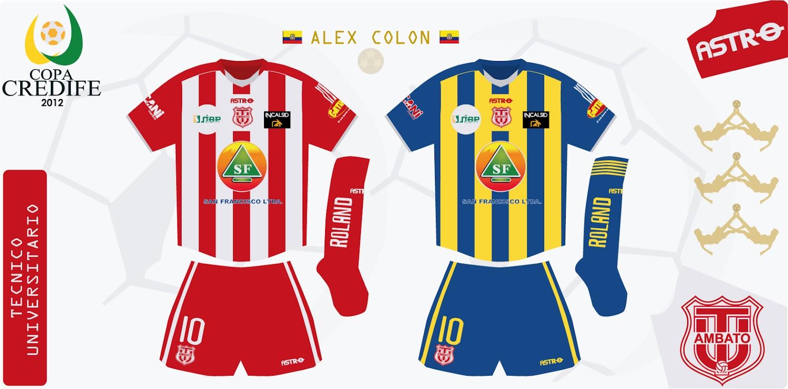 Design futbol kits t cnico universitario 2012 copa credife for Exterior tecnico universitario 2018