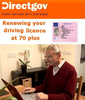www uk renew driving licence at 70