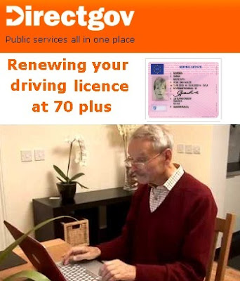 www.direct.gov.uk/renewat70: Guide on Applying renewal of driving licence after 70