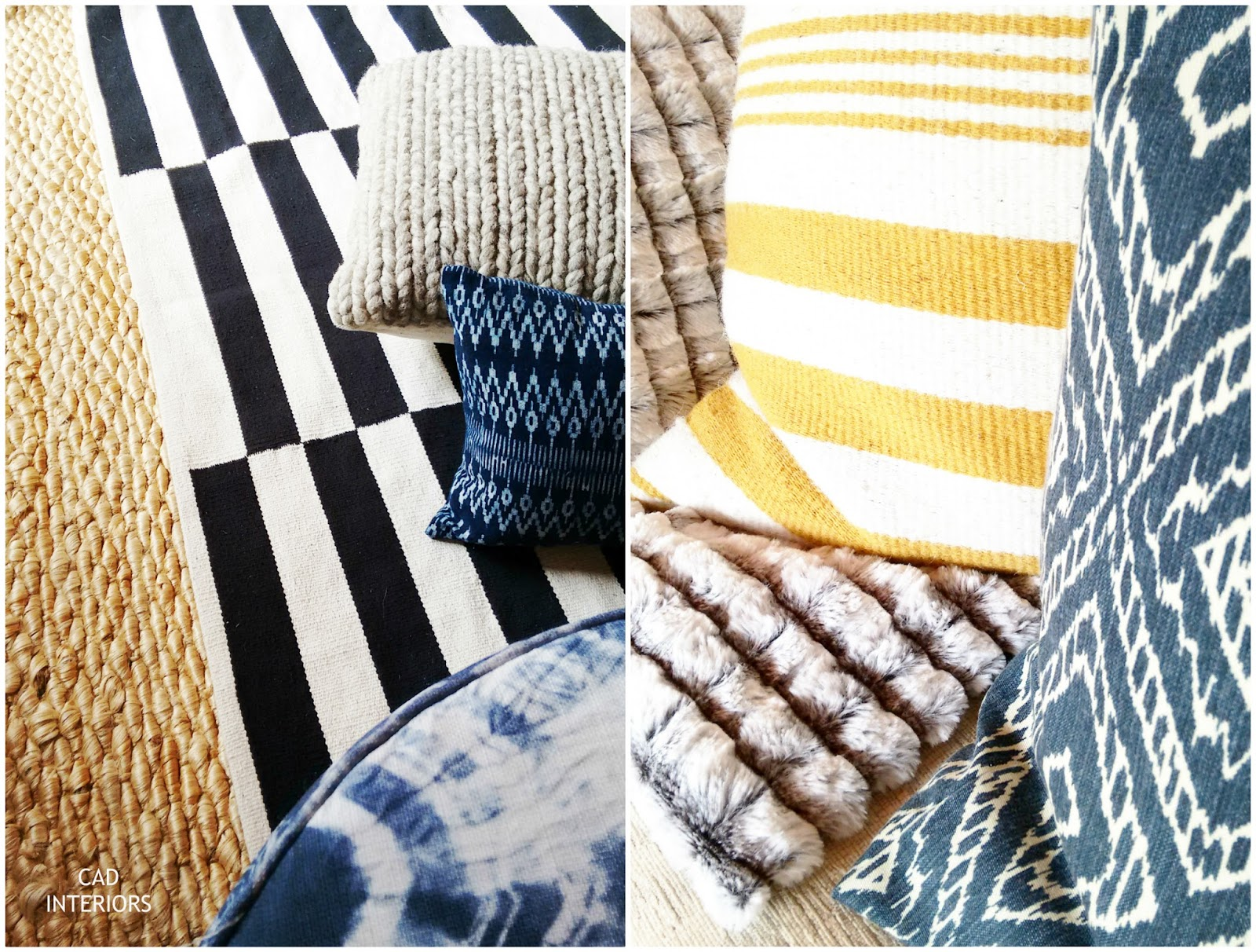 Jute Rug Striped Wool Rug Indigo Ikat Pillow Textures Patterns Home Decor  Accessories CAD INTERIORS Family