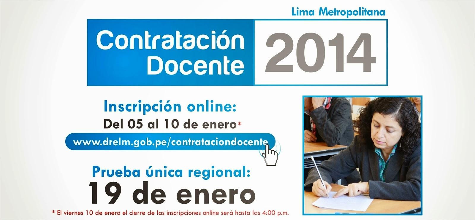 Resultados Contrato Docente del 19 de Enero 2014 UNSAAC DRE CUSCO