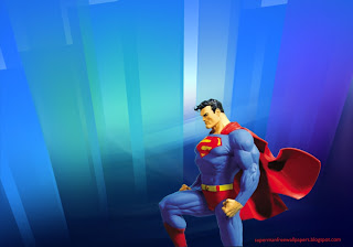 Desktop Wallpaper of Superman Statue in Crystal Landscape Desktop wallpaper