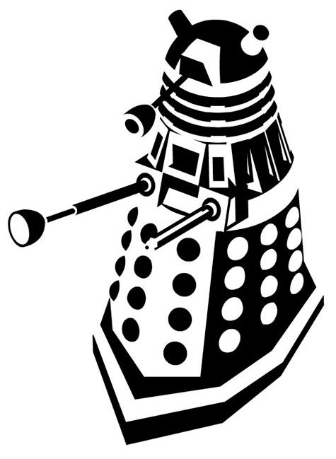 Doodlecraft: Doctor Who Stencil Silhouette Outline Clipart ...