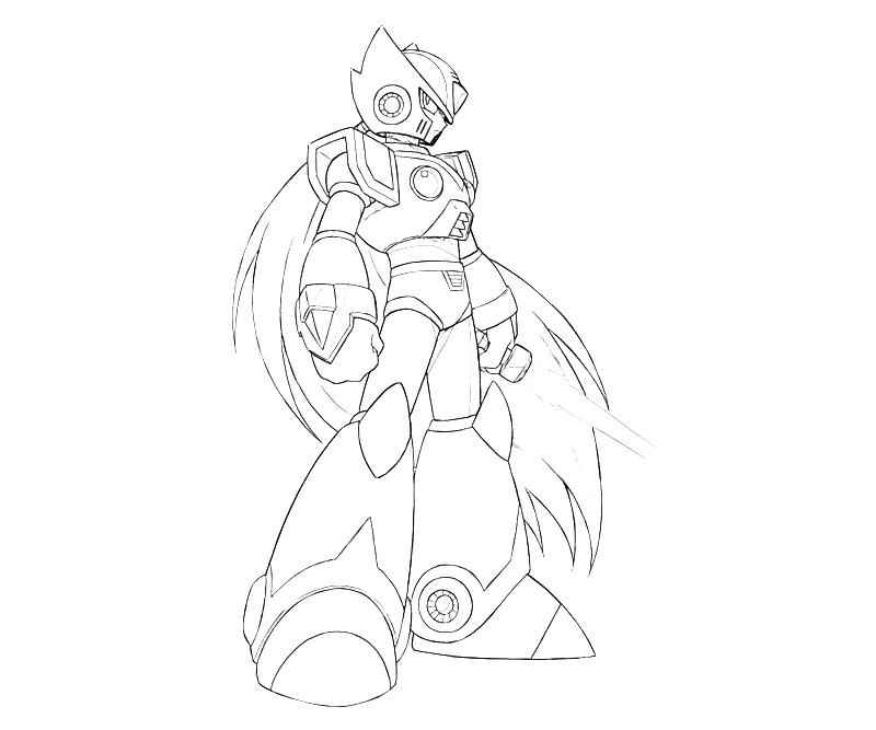 megaman x coloring pages photo14