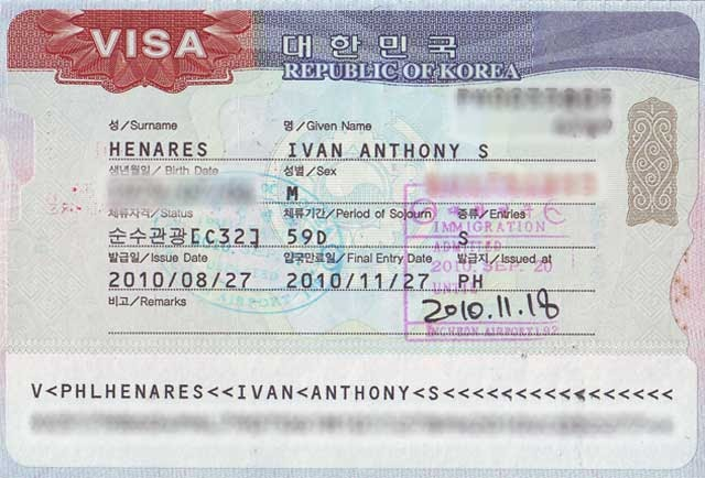 South Korea Applying For A Korean Visa In The Philippines