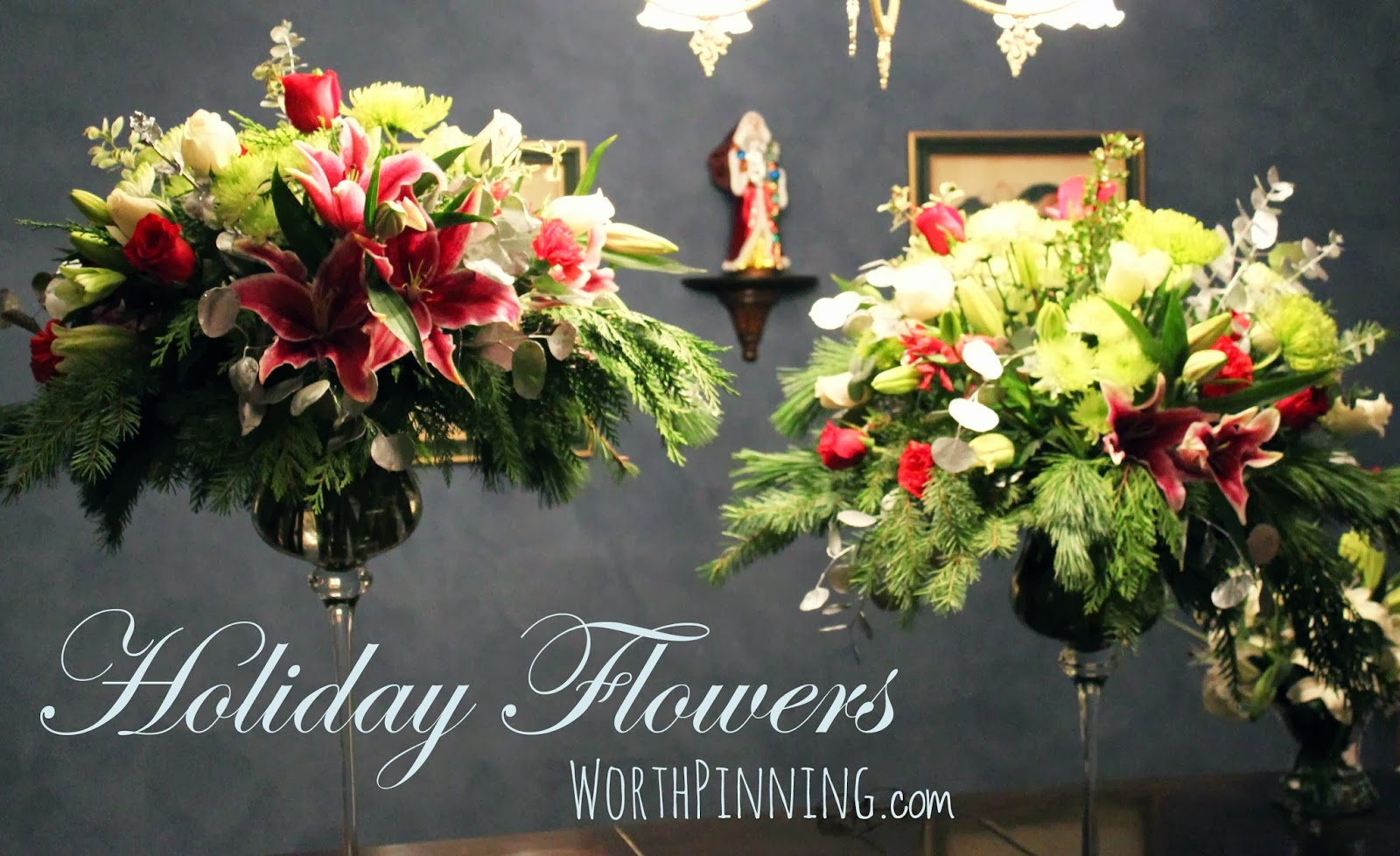 Worth Pinning: Christmas Party Flowers