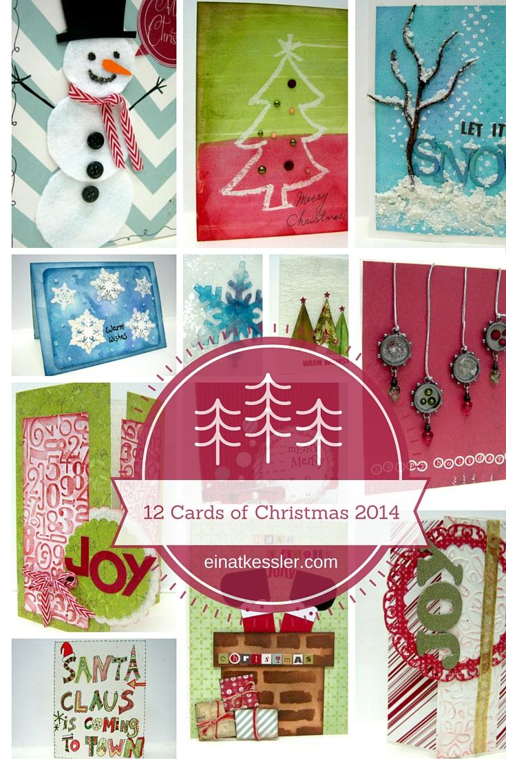 12 Christmas Cards Video Tutorials - Einat Kessler