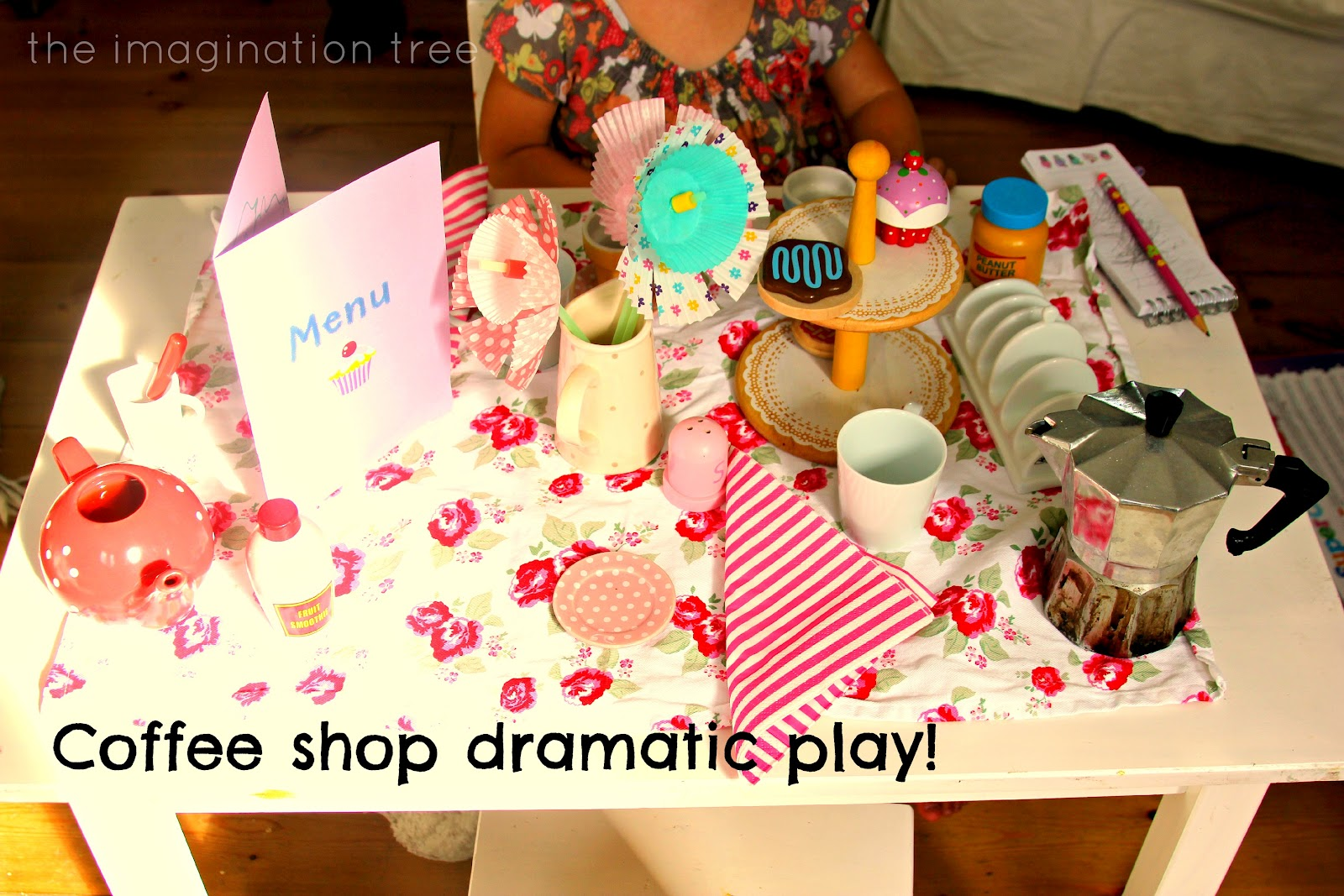 Coffee Shop Role Play on Space Theme Printables
