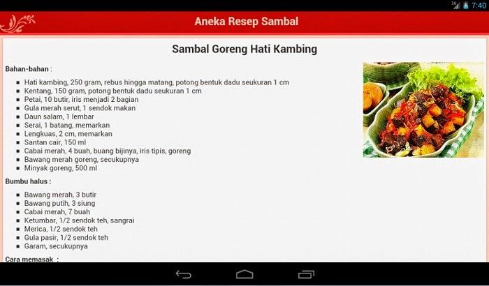Aplikasi Resep Masakan di Android