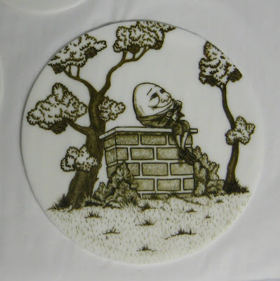 Hand Painted Nursery Rhyme Baby Shower Cake - Humpty Dumpty