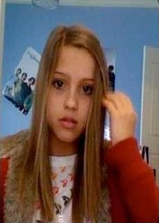 Chica antes del accidente
