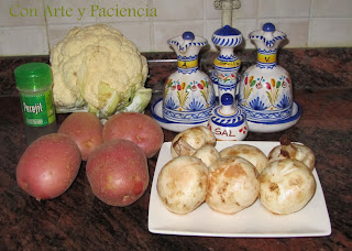 Crema de coliflor con champiñones