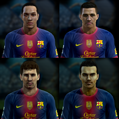 Mini Facepack do Barcelona - PES 2013