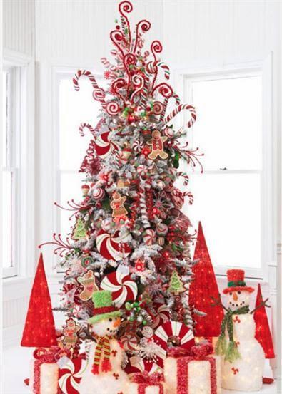 Muyameno arboles de navidad decorados con dulces