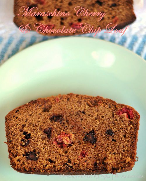 Maraschino Cherry and Chocolate Chip Loaf