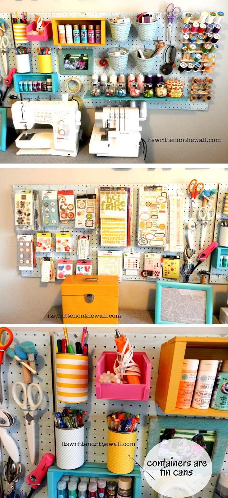 It 39 s written on the wall craft room organizing ideas how for Diy organization crafts