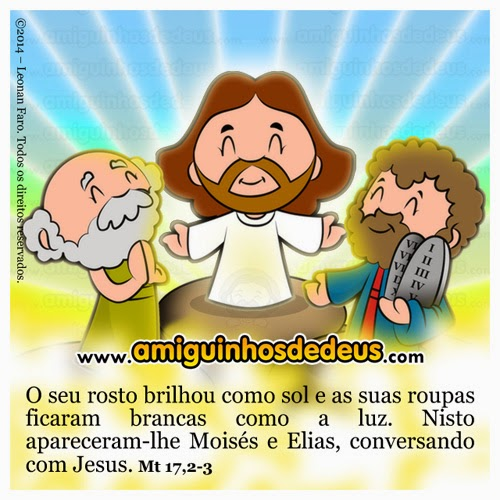 transfiguração de jesus desenho