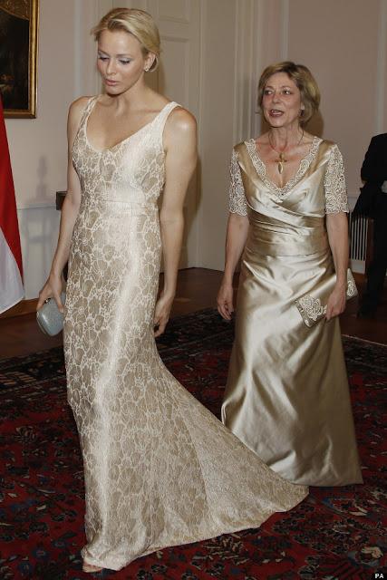 Princess Charlene and Daniela Schadt Germany 2012