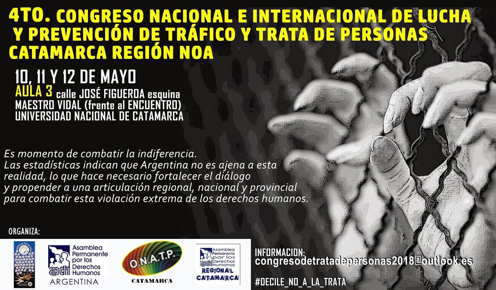 APDH y Defensoria Presentes en el 4to. Congreso contra la trata de personas!