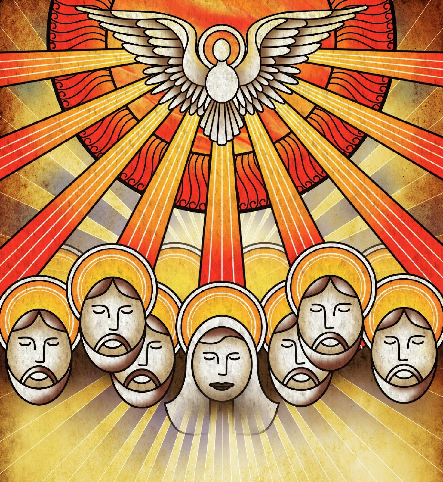 Clip Art Pentecost Clipart clergy confidential bad pentecost clipart either the disciples need to turn that frown upside down or fu manchu had really caught on