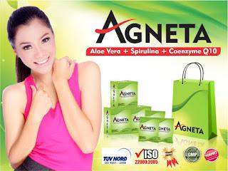 Agneta telah melaunching produk terbarunya pada tanggal 23 Mei 2015 lalu di Makassar dengan sambutan Antusias dari para member Agneta di seluruh Indonesia.  Produk terbaru Agneta ini adalah Agneta Slimmer atau Agneta Aloevera. Agneta Aloevera ini merupakan produk kedua setelah Agneta Soya Milk. Dengan demikian Agneta makin di buru masyarakat karena kualitas produknya yang bisa dirasakan testimonynya.         AGNETA ALOEVERA =  SUPERFIBER + SUPERFOOD     Untuk Mengatasi Masalah Berat Badan & DETOX   Salah satu penyebab penyakit adalah berasal dari makanan. Apalagi di jaman modern seperti sekarang ini, banyak sekali beraneka macam makanan. Seperti fastfood, junkfood dan pilihan makanan yang kita makan tidak sehat, mengandung banyak kolesterol, bahan pengawet, pewarna, penyedap rasa dll. Makanan yang kita makan masuk ke lambung, kemudian melalui usus. Didalam usus ini makanan setelah dicerna kemudian diserap nutrisinya. Bahan bahan yang diatas tadi sulit diserap oleh usus, dan jika kita kurang makanan berserat akibatnya kotoran atau toksin tidak bisa semuanya terlarut dalam kotoran. Dan ini terjadi bertahun tahun selama hidup kita sejak kecil hingga sekarang.