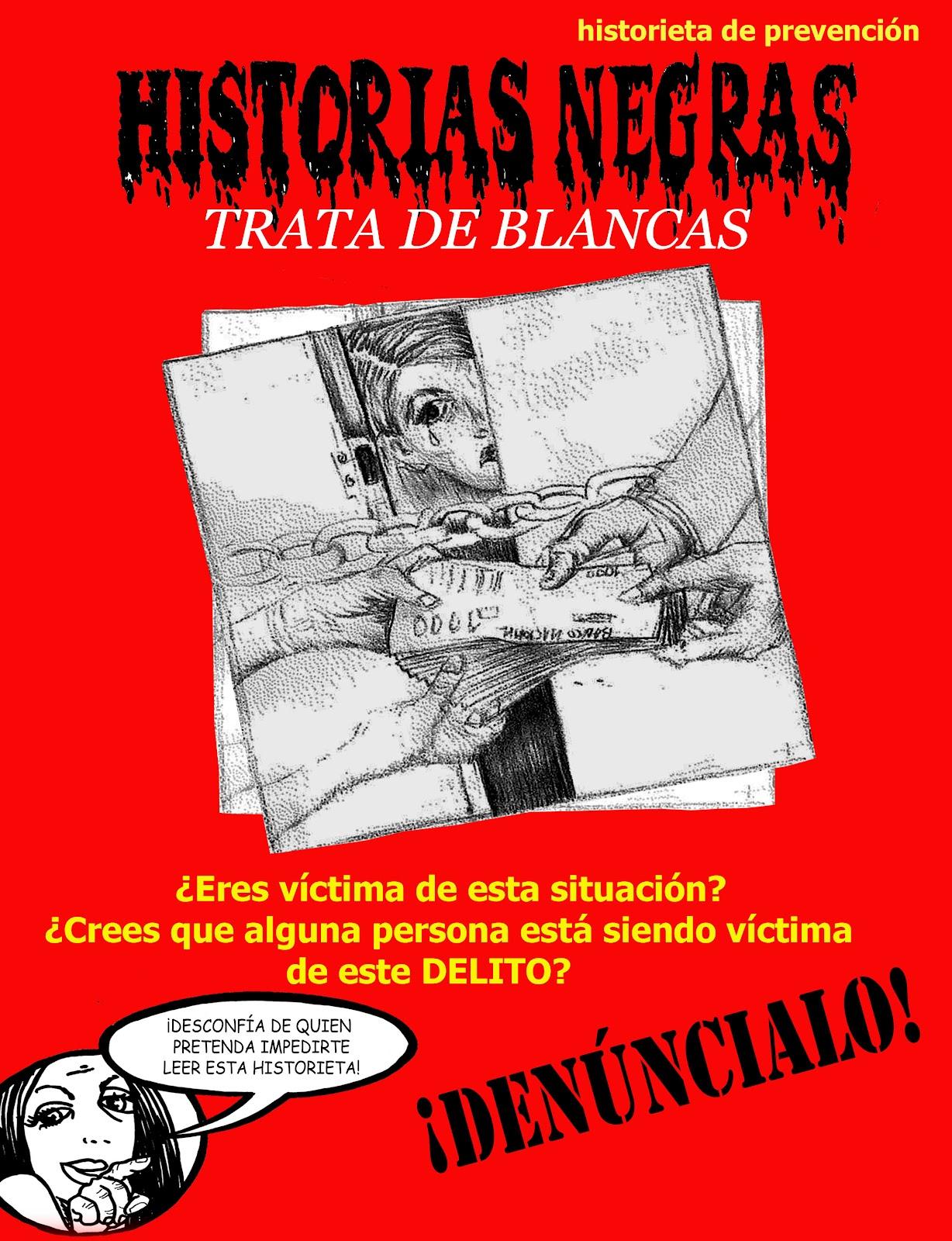 historiasnegras  historieta de prevenci u00f3n contra la trata