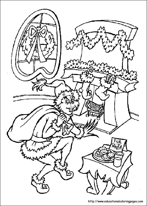 Free Online Christmas Stocking Colouring Page Kids