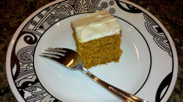 Pumpkin Spice Cake Square