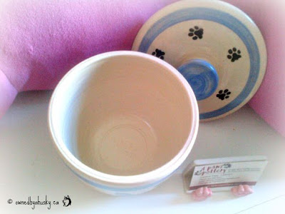 pottery dog food jar