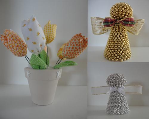 Mamãe Inventa Festas~ Decoracao Amarelo Branco E Rosa