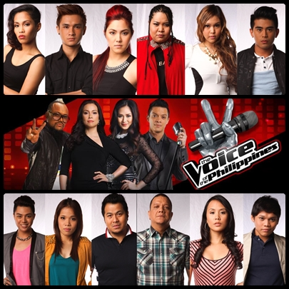 The Voice of the Philippines 2nd live shows artists