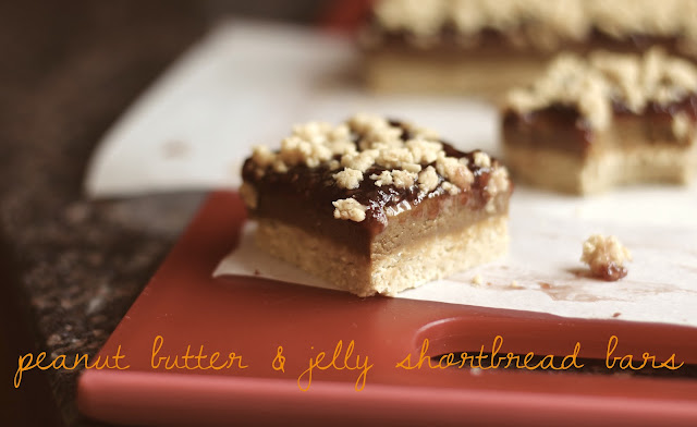 Healthy Peanut Butter and Jelly Shortbread Bars
