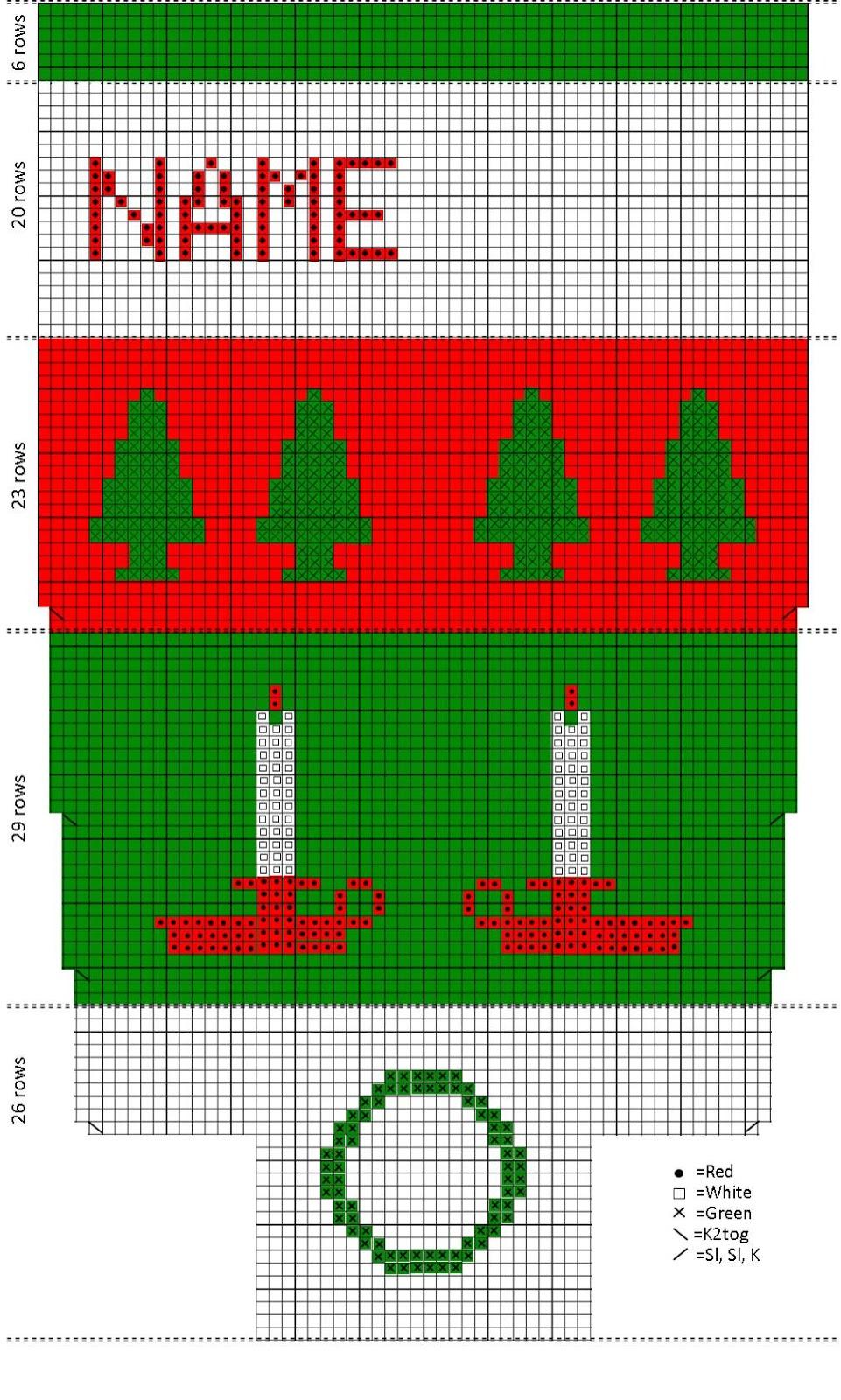 Knitting Charts Christmas : Knitting vintage christmas stockings