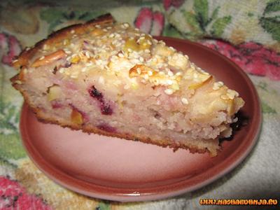 Яблочный пирог с иргой