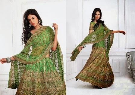 Ever-Green-Lehenga-Style