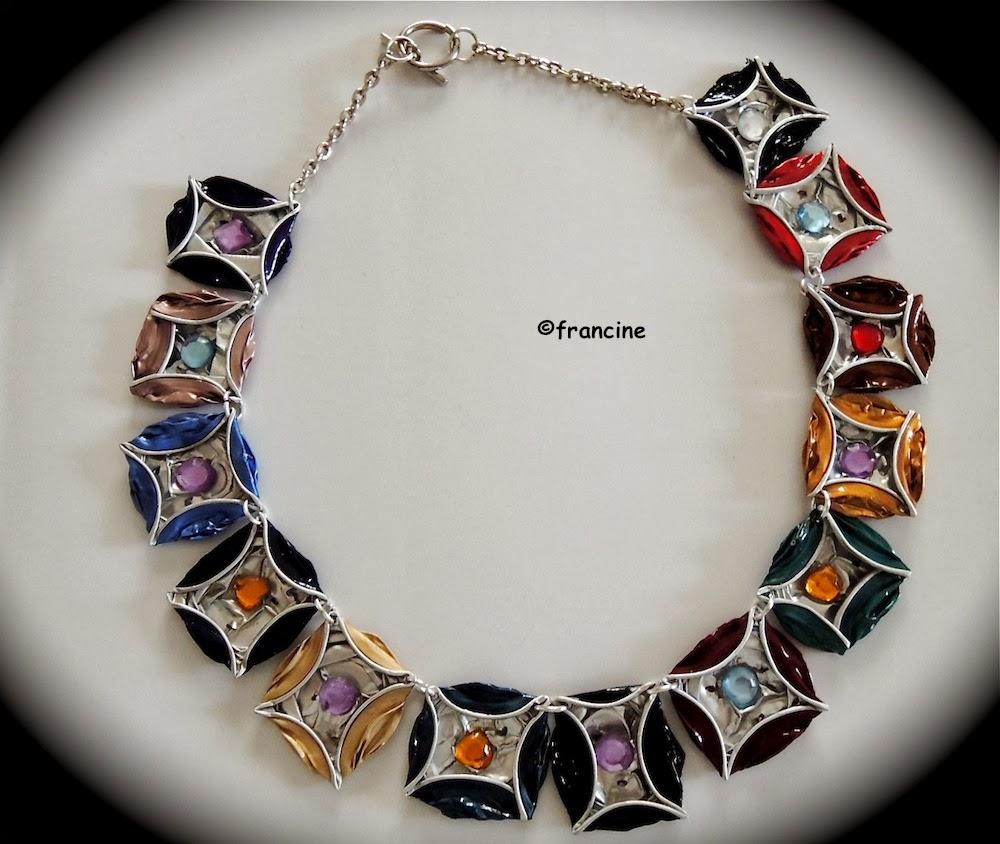 francine bricole collier multicolore capsules nespresso