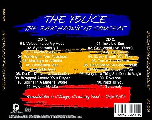 "THE POLICE una leyenda viva: ""The Syncronicity Concert ..."