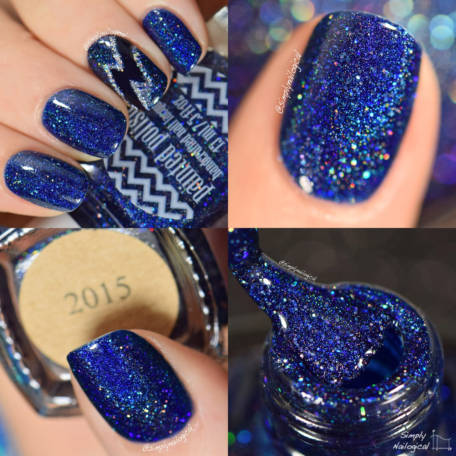 Simply Nailogical: The prettiest dark blue holo you ever seen ...