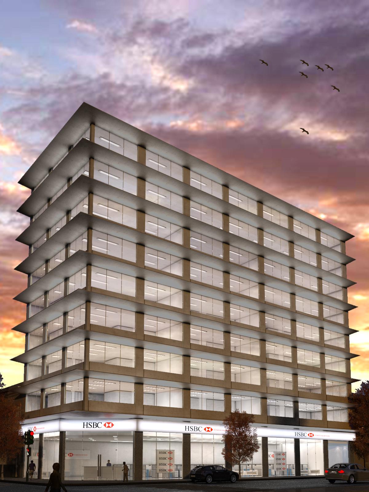 Voxel cg edificio oficinas prov san juan for Edificio oficinas