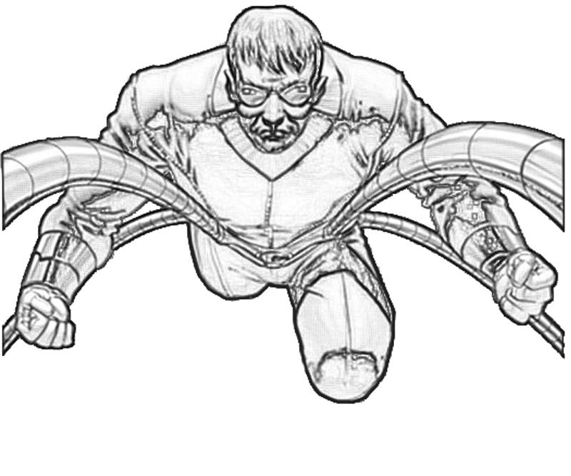 Dr Octopus Free Colouring Pages Doctor Octopus Coloring Pages