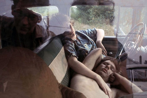 masters of photography : Danny Lyon : photo of couple sleeping in car