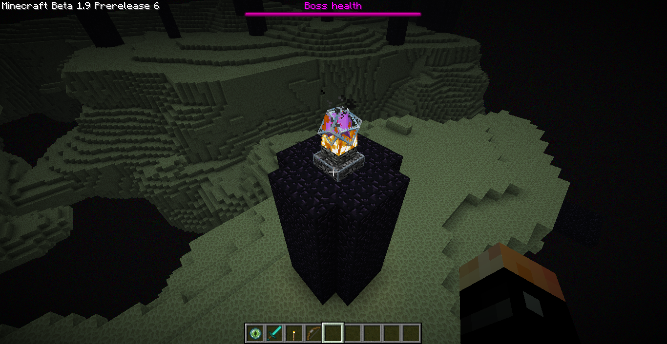 how to take the ender dragon egg