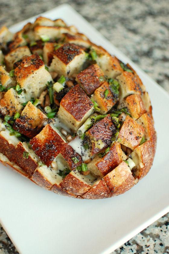 pan con queso y especias