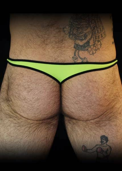 GBGB Wear Jim Bikini Lime Back Mens Underwear