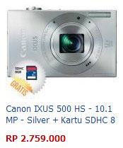 Harga Kamera Canon Ixus 500 HS